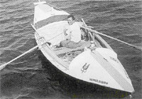1969 First man to row the Atlantic alone